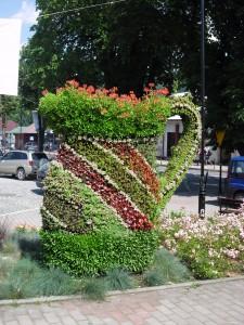 Klomb kwiatowy w Piwnicznej