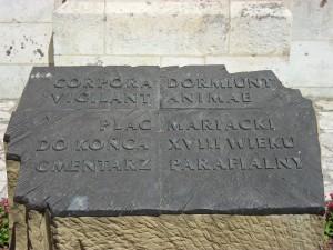 Kościół Mariacki   - tablica