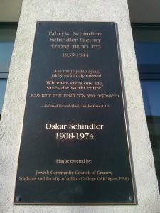 Tablica informacyjna - Fabryka Schindlera