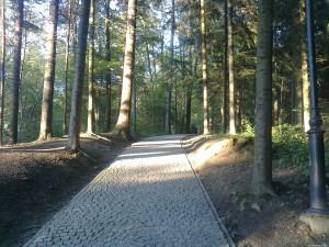 Wejście na  Górę Parkową