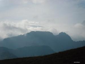 Widok na Giewont w Zakopanem