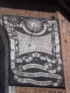 Zegar słoneczny - Kościół Mariacki
