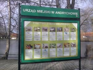 Tablica informacyjna w Andrychowie